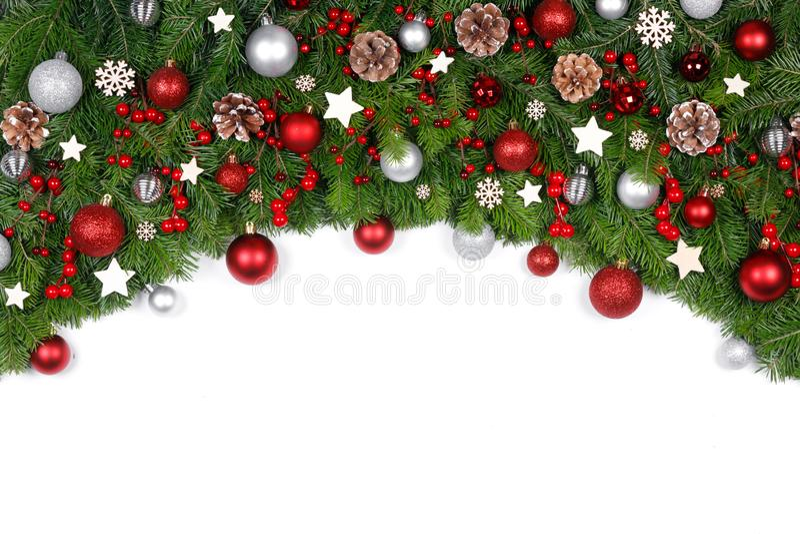 Cadre décoratif de Noël photographie stock libre de droits