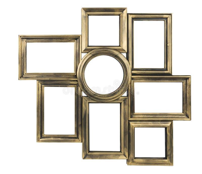 Cadre décoratif doré de photo photos libres de droits