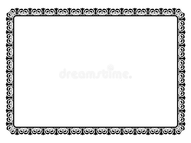 Cadre décoratif ornemental noir simple illustration de vecteur