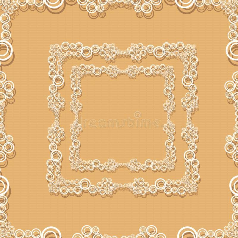 cadre décoratif sur le rétro mur brun. illustration stock