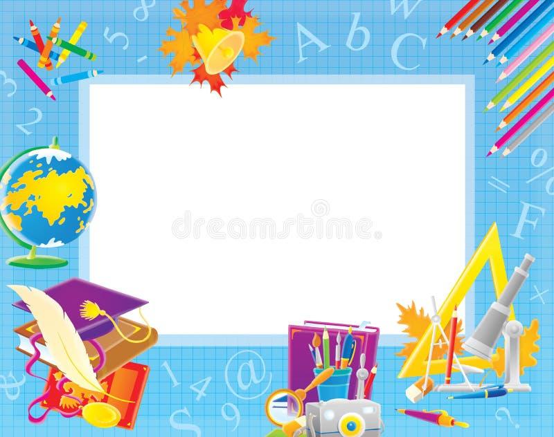 Cadre d'école pour votre photo et texte illustration de vecteur