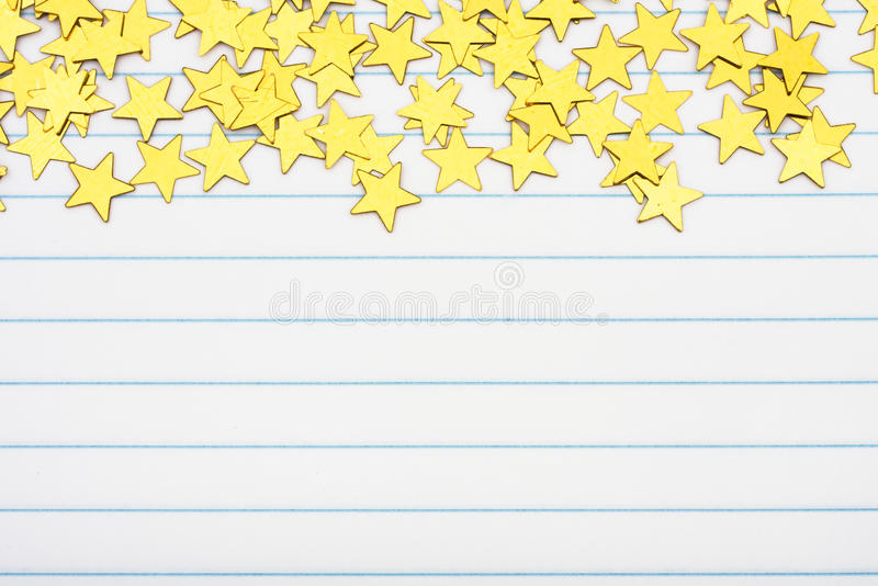 Cadre d'étoile d'or photographie stock