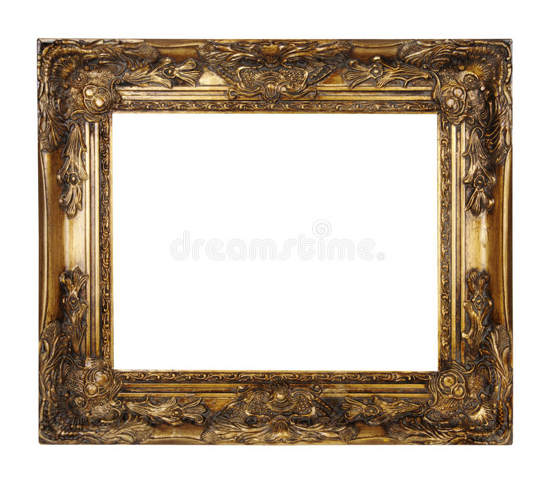 Cadre d'or photos libres de droits