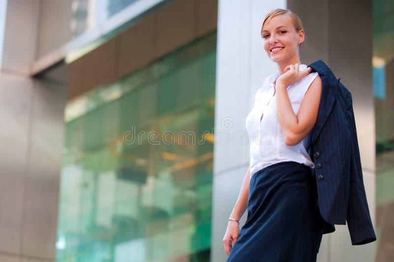 Cadre d'affaires confiant image stock