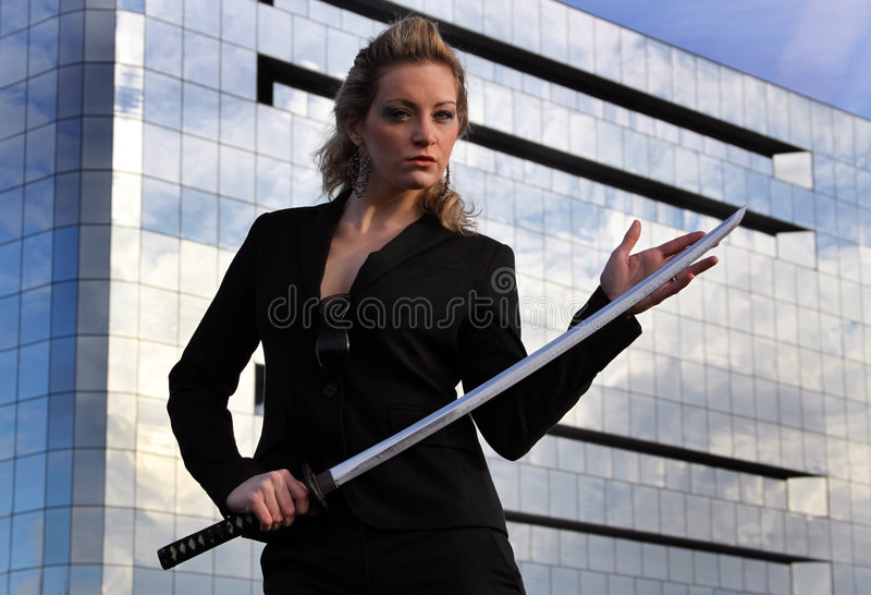 Cadre d'affaires de samouraï photo libre de droits