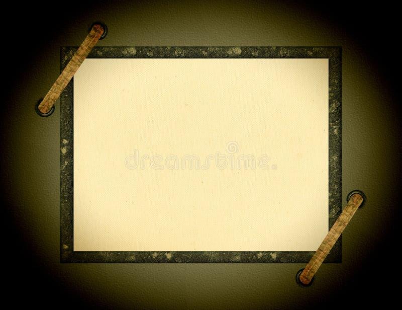 Cadre d'album avec la vignette photos libres de droits