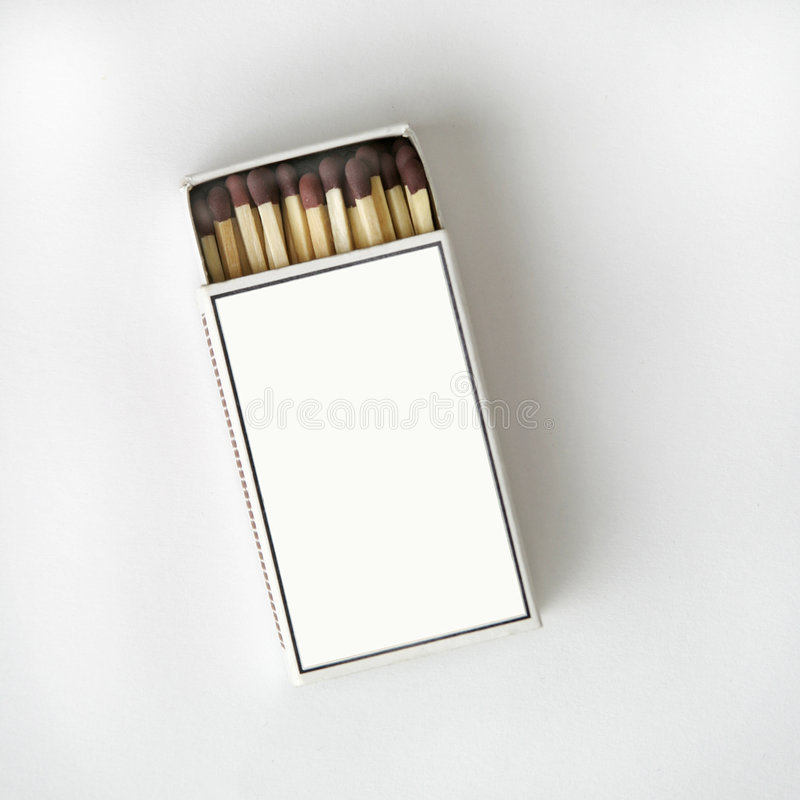 Cadre D Allumette Sur Le Blanc Photos libres de droits