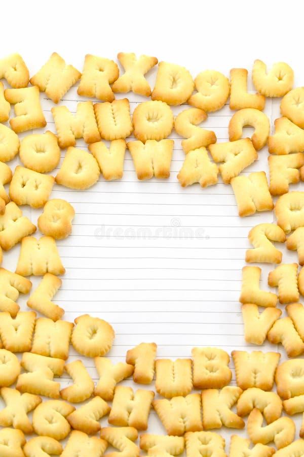Cadre d'alphabet de pain photo stock