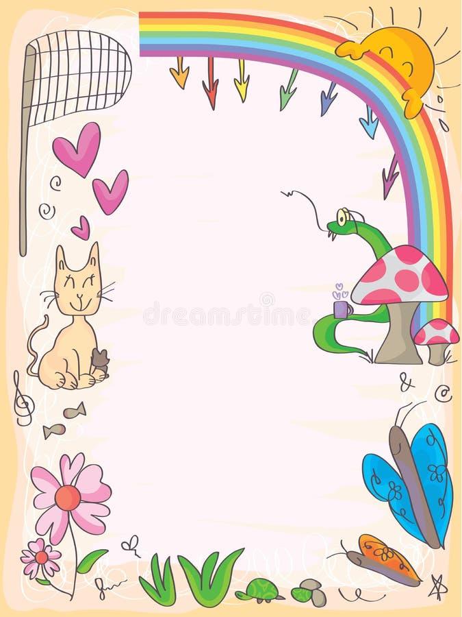 Cadre d'amis de papillons illustration libre de droits