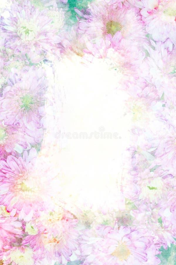 Download Cadre d'aquarelle de fleur illustration stock. Illustration du flore - 56476354