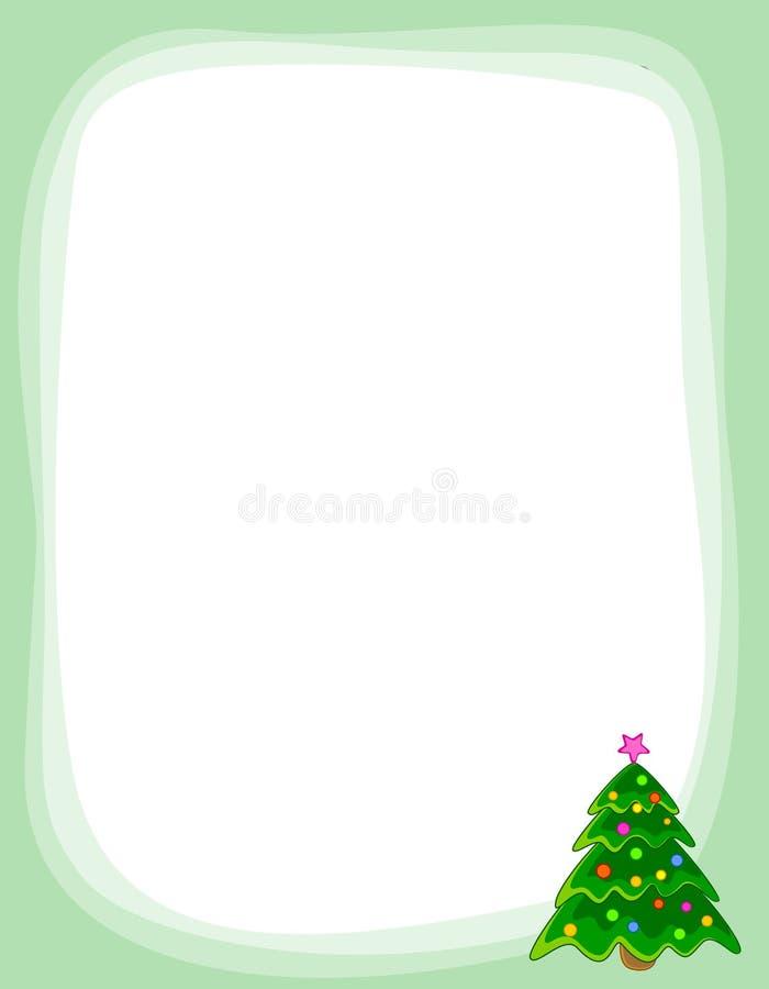 Cadre D Arbre De Noël Image stock