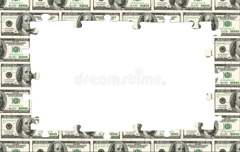 Cadre d'argent photo stock