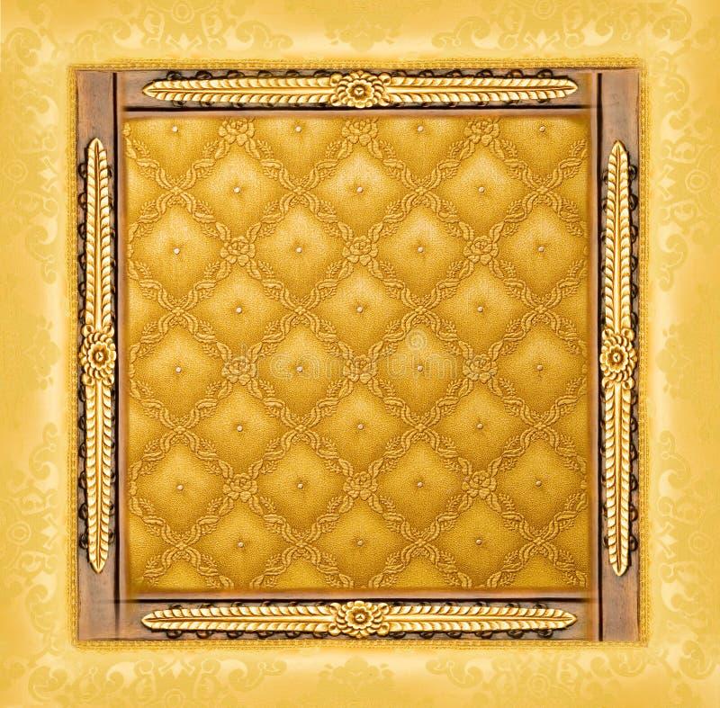 Cadre d'or de luxe abstrait photo libre de droits