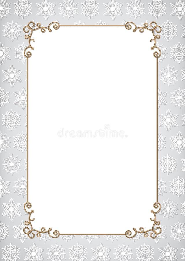 Cadre d'or de Noël illustration de vecteur