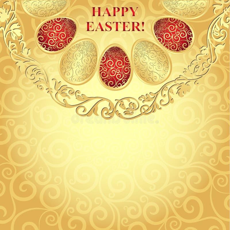 Cadre d'or de Pâques illustration libre de droits