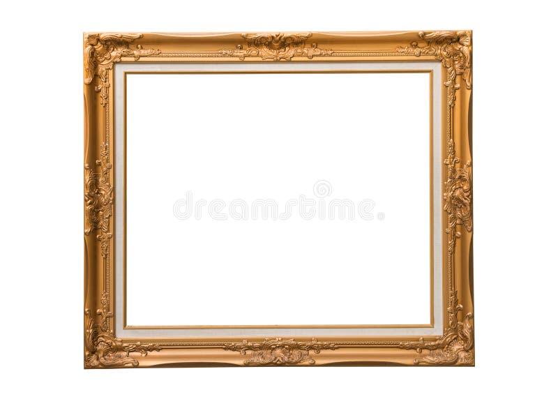Cadre d'or de photo images stock