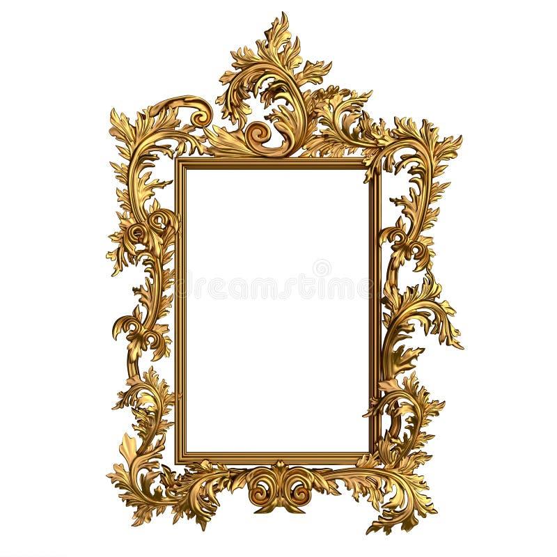 Cadre d'or de vintage avec l'espace vide photos stock