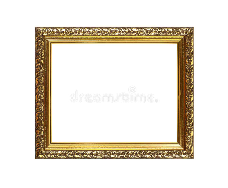 Cadre d'or fleuri antique de photo ou de photo photo libre de droits
