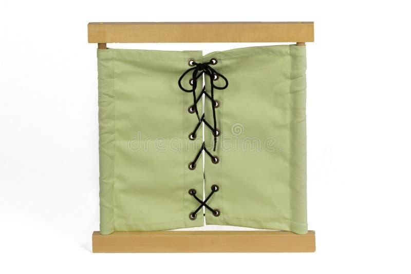 Cadre d'habillage matériel de Montessori photo stock