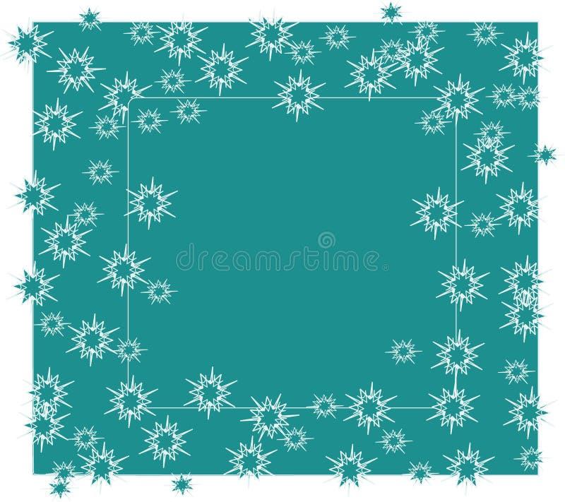 Cadre d'hiver de Snowflake couleur bleu essence illustration de vecteur