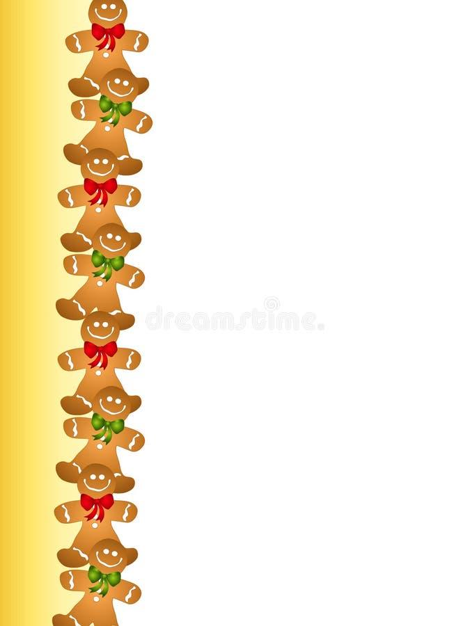 Cadre d'homme de pain d'épice illustration libre de droits
