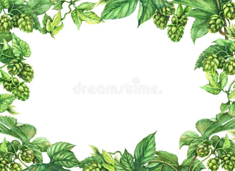 Cadre d'houblon illustration de vecteur