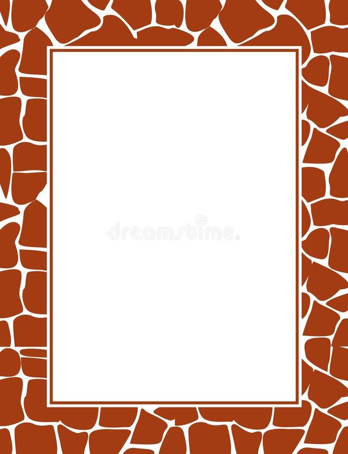 Cadre d'impression de giraffe illustration stock