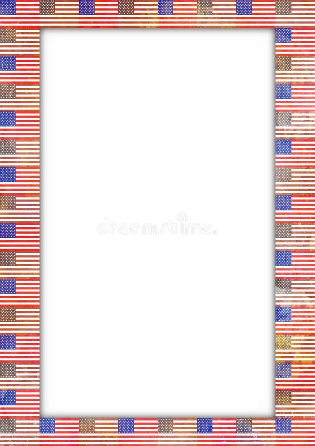 Cadre d'indicateur des Etats-Unis illustration de vecteur