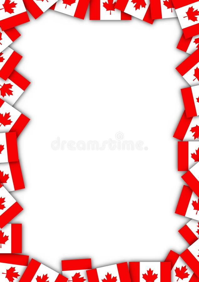 Cadre d'indicateur du Canada illustration stock