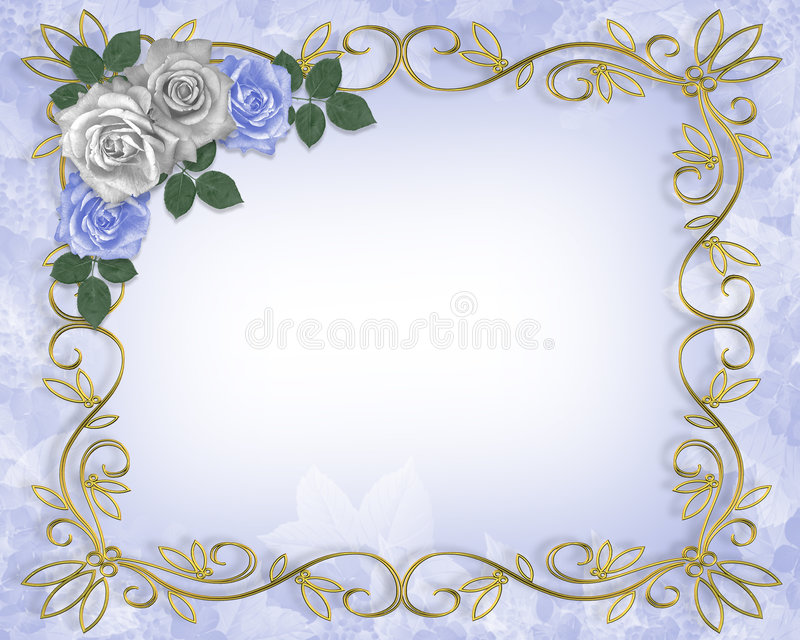 Cadre d'invitation de mariage illustration stock