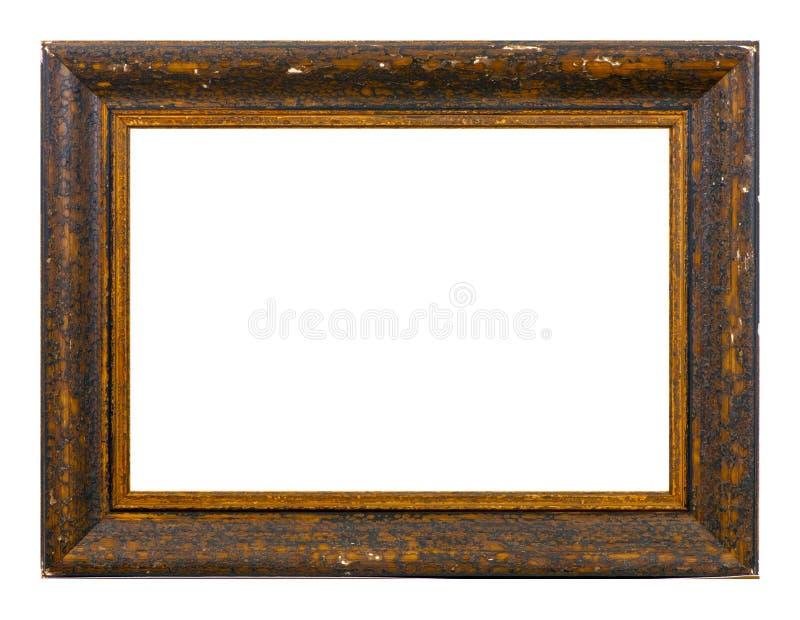 Cadre d'isolement de photo, cadre antique en bois de photo images stock