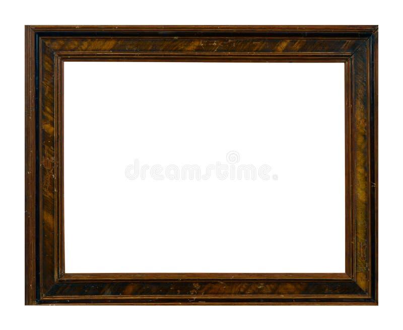 Cadre d'isolement de photo, cadre antique en bois de photo photo libre de droits