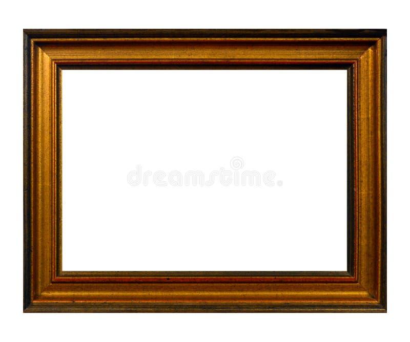 Cadre d'isolement de photo, cadre antique en bois de photo photographie stock