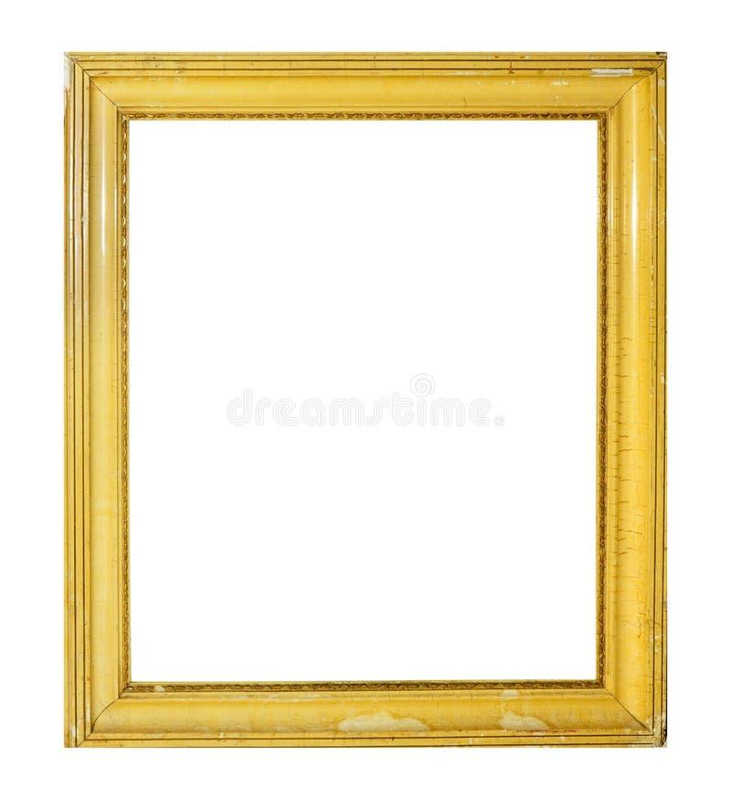 Cadre d'isolement de photo, cadre antique en bois de photo photo stock