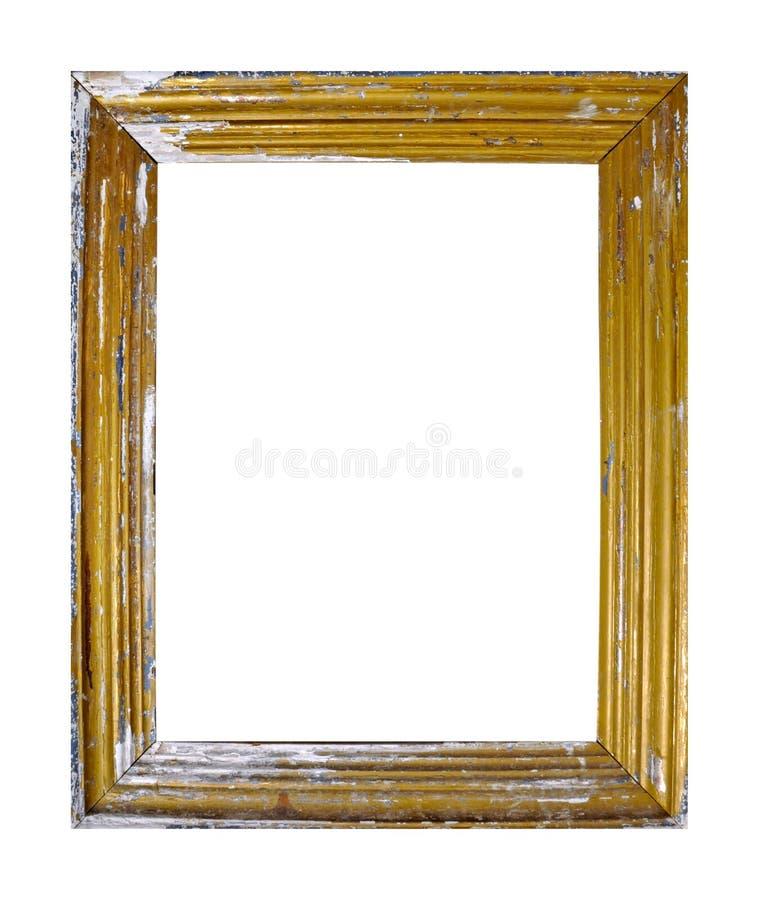 Cadre d'isolement de photo, cadre antique d'or sale de photo photographie stock libre de droits