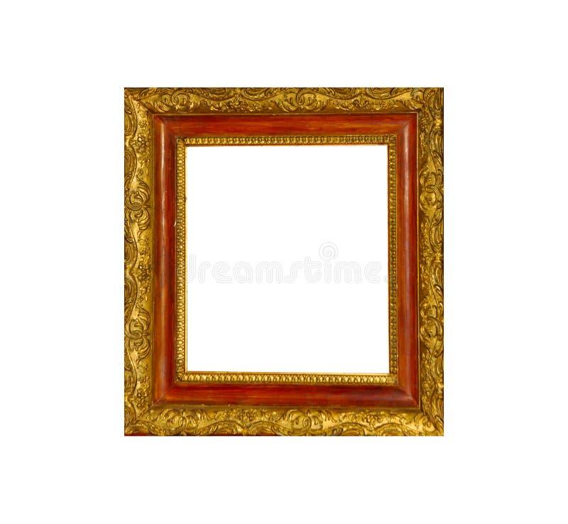 Cadre d'isolement de photo, cadre antique d'or de photo images stock