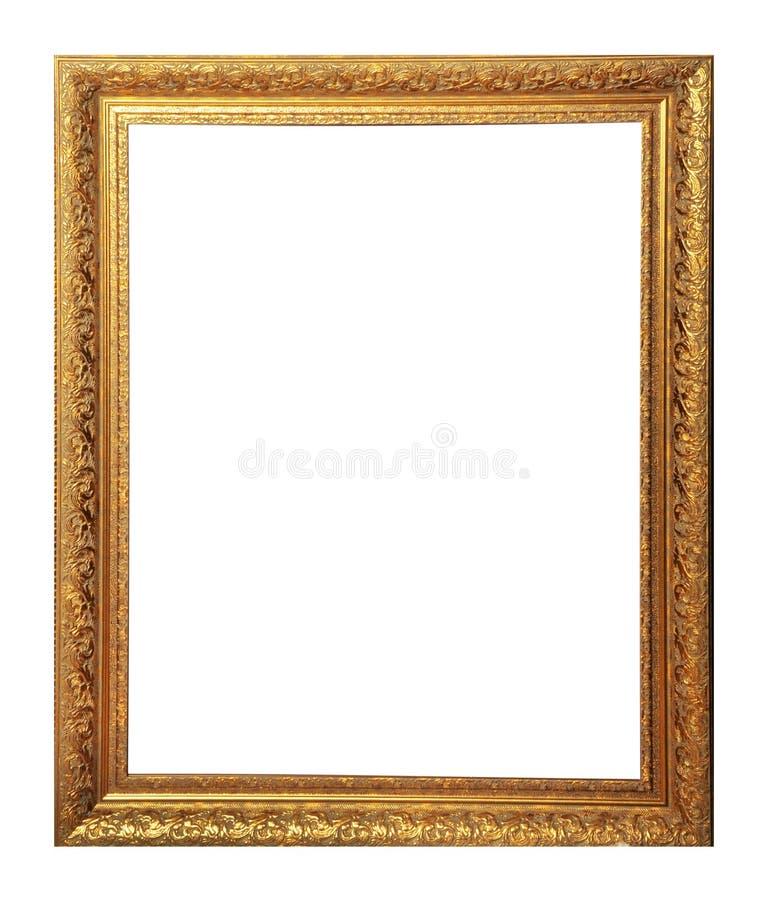 Cadre d'isolement de photo, cadre antique d'or de photo photographie stock libre de droits