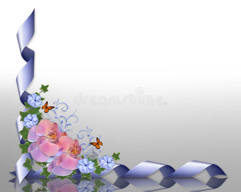 Cadre d'orchidées illustration de vecteur