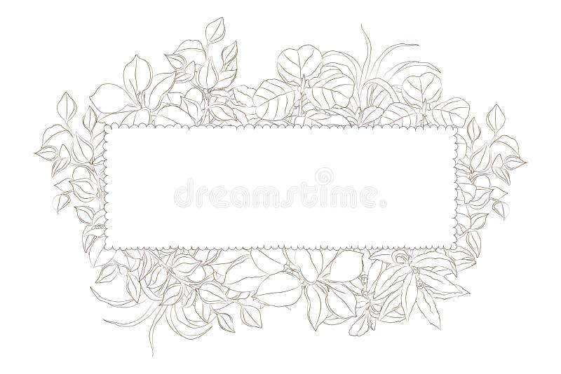 Cadre d'usine de rectangle illustration stock