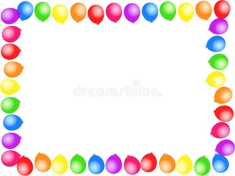Cadre de ballon illustration de vecteur
