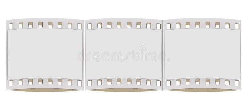 cadre de bande de film de 35mm illustration de vecteur
