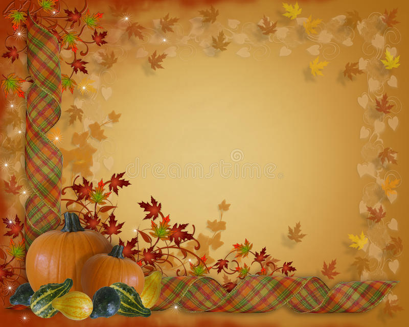 Cadre de bandes d'automne d'automne d'action de grâces illustration stock