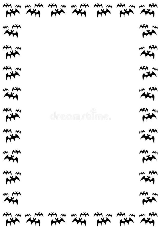 Cadre de 'bat' de Veille de la toussaint illustration de vecteur