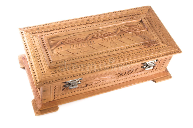 Cadre de bijou en bois de santal photo libre de droits