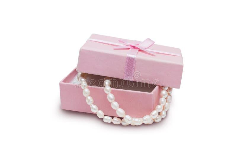 Cadre de bijou et collier de perle image libre de droits
