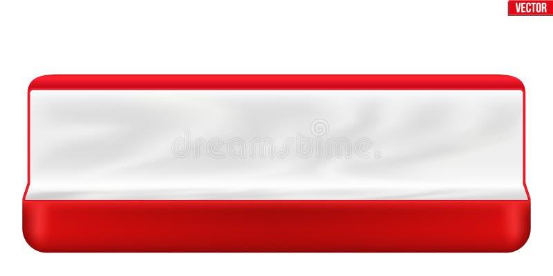 Cadre de bijou rouge de velours illustration de vecteur