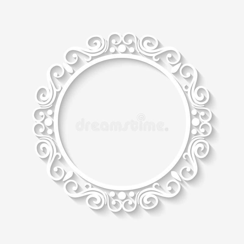 Cadre de blanc de frontière de vintage de vecteur illustration libre de droits