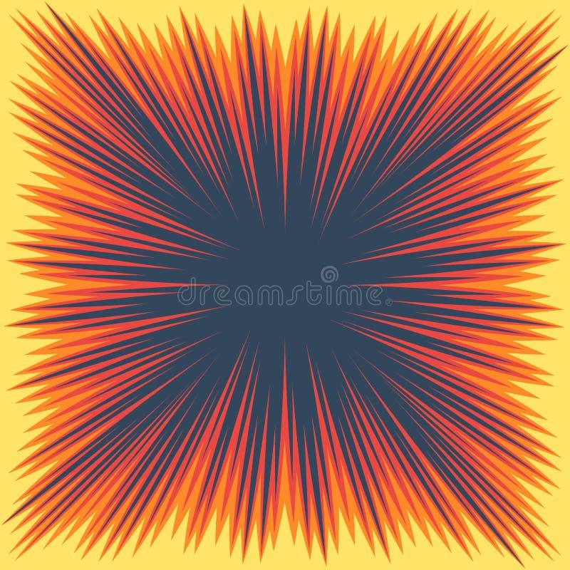 Cadre de boom d'explosion illustration stock