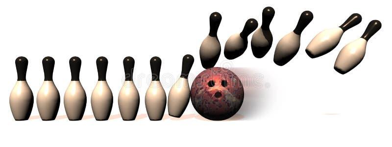 Cadre de bowling illustration libre de droits
