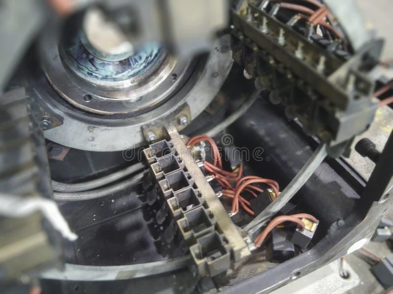 Cadre de brosse de moteur de C.C photographie stock